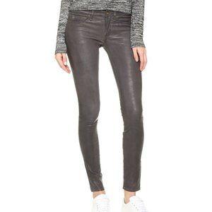 AUTH Rag & Bone Skinny Gray Lamb Leather Pant (24)